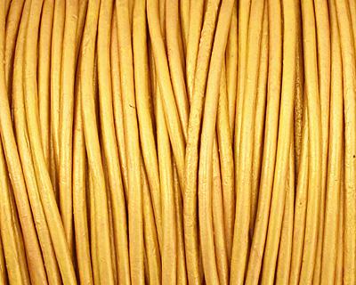 Mustard (metallic) Round Leather Cord 2mm