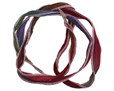 Hydrangea w/ Lavender Edges Hand Dyed 100% Silk Ribbon 1/2