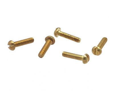 Brass Round Head Machine Screw 0-80x1/4