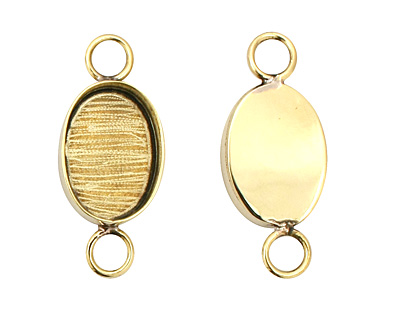 Brass Oval Bezel Link 19x15mm