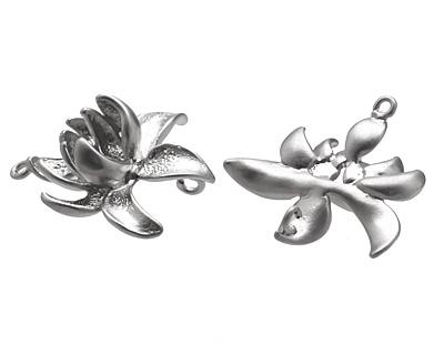 Ezel Findings Rhodium (plated) Lotus Flower 19mm