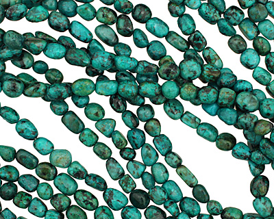 African Turquoise Tumbled Nugget 7-9mm