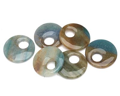 Blue Green Quartz Off Center Donut 45mm