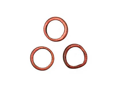 C-Koop Enameled Metal Ruby Red Large Ring 16-17mm