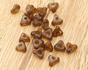 African Recycled Glass Coffee Tri-Bead 5x10mm