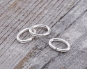 Silver (plated) Oval Jump Ring 7x5mm, 18 gauge