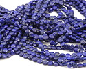 Lapis (A) Faceted Puff Coin 6.5-7mm