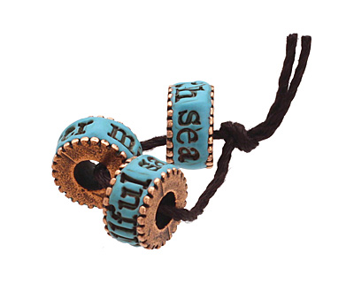 Swoondimples Polymer Clay Turquoise w/ Antique Copper