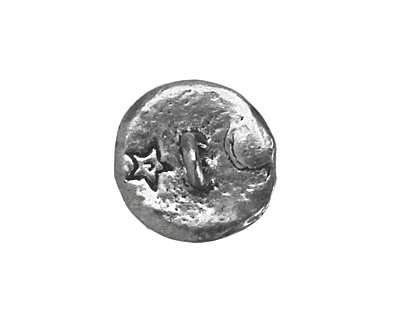 Green Girl Pewter Raven Button 25mm