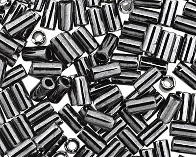 TOHO Metallic Hematite Bugle #1 Seed Bead