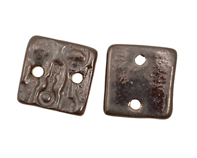 Earthenwood Studio Ceramic Pewter Small Square Keys Link 19mm