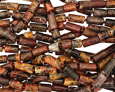 Pilbara Jasper Irregular Barrel 9-20x8mm