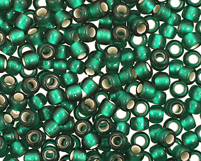 TOHO Green Emerald (with Frosted Silver Lining) Round 11/0 Seed Bead
