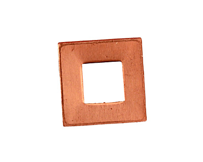 Copper Square Ring Blank 17mm