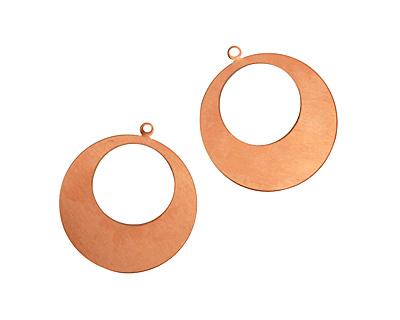 Copper Gypsy Hoop Blank 38x42mm