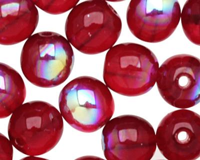 Czech Glass Garnet AB Round 6mm