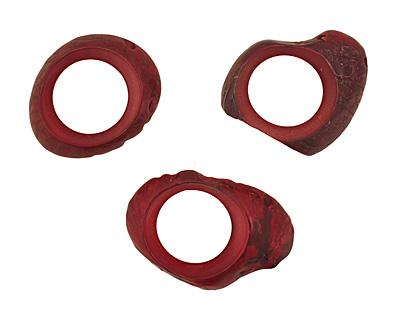 Tagua Nut Merlot Open Slice (side drilled) 33-45x24-36mm