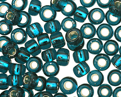 TOHO Teal (with Silver Lining) Round 8/0 Seed Bead