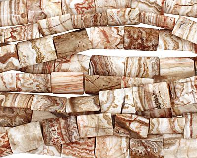Rosetta Lace Agate Thin Pillow 20x15mm