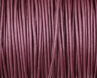 Berry (metallic) Round Leather Cord 1.5mm