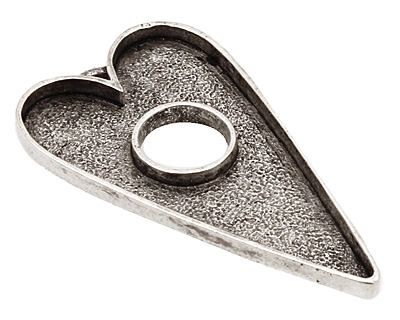 Nunn Design Antique Silver (plated) Grande Heart Bezel Toggle 52x29mm
