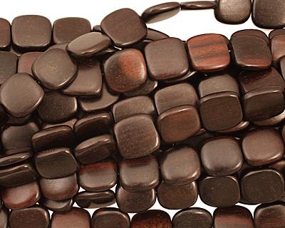 Ebony Wood Puff Square 15-16mm