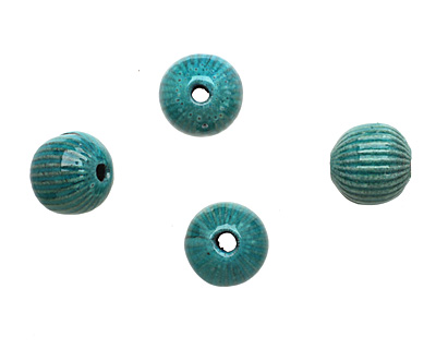 Painting with Fire Torch Fired Enamel Aqua Blue/Water Blue Ridge Round 14mm