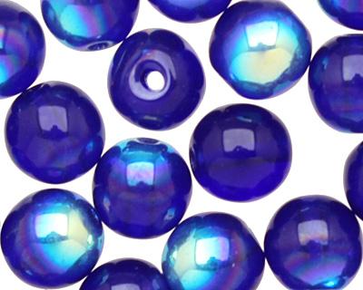 Czech Glass Cobalt AB Round 6mm