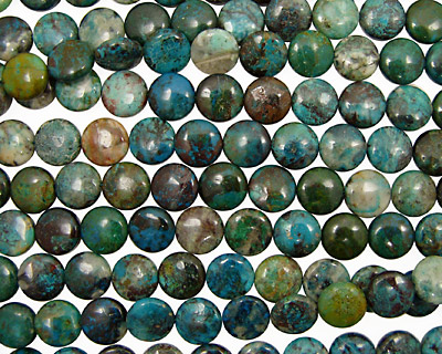 Chrysocolla Puff Coin 13-14mm