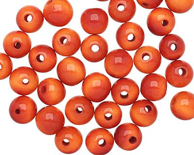 Tagua Nut Orange Round 9mm