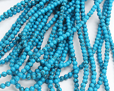 Howlite Turquoise Round 4mm