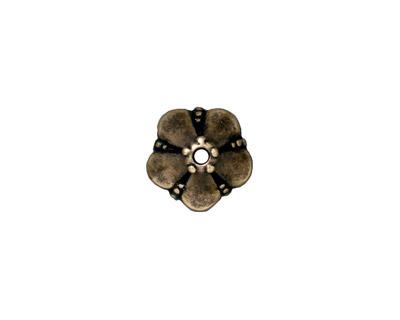 TierraCast Antique Brass (plated) Large Bell Flower Bead Cap 12mm