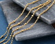 Satin Hamilton Gold (Plated) Rollo Satellite Chain