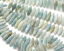Black Gold Amazonite (light) 2-Hole Spear 8x23mm