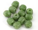 African Powder Glass (Krobo) Jade Green Tumbled Round 10-12mm