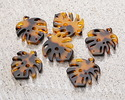 Zola Elements Tortoise Shell Acetate Small Monstera Leaf Focal 23x25mm