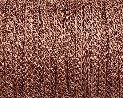 SilverSilk Non-Tarnish Antique Copper 4 Needle Flat Knitted Wire 2.2mm