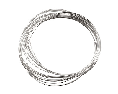 Memory Wire Silver (plated) Oval Bracelet .35 oz.