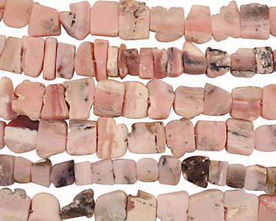 Pink Opal Flat Freeform Rough Slabs 5-12x13-15mm