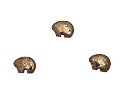 Golden Pyrite Zuni Bear 13x18mm