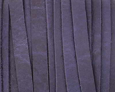 Blue Deertan Leather Lace 5mm
