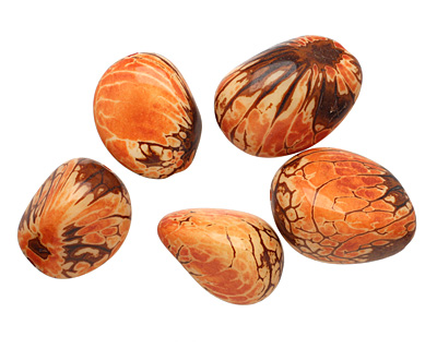 Tagua Nut Orange Nugget 40-45x32-36mm