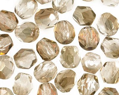 Czech Fire Polished Glass Twilight Crystal Round 4mm