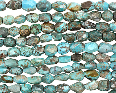 Chinese Turquoise Faceted Nugget 15-22x11-14mm