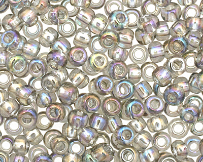 TOHO Transparent Rainbow Black Diamond Round 11/0 Seed Bead