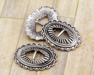 Zola Elements Antique Silver (plated) Southwest Concho 22x29mm