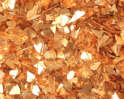 Amber Vintage Glass Glitter (Shards) 1 oz.
