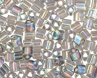 TOHO Transparent Rainbow Gray Triangle 11/0 Seed Bead