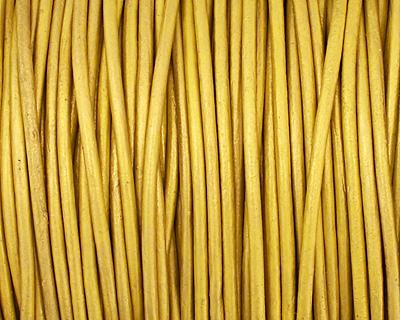 Mustard (metallic) Round Leather Cord 1.5mm