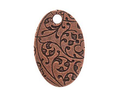 Nunn Design Antique Copper (plated) Large Oval Bee Tag 16x25mm